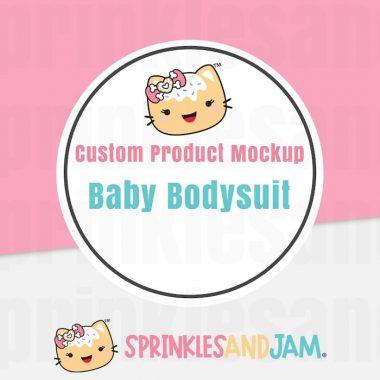 Custom Baby Bodysuit Mockup